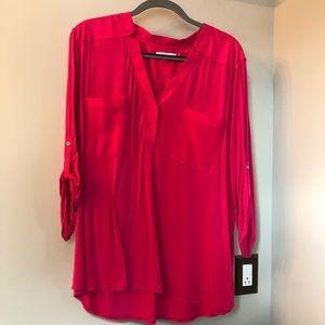 Pink Calvin Klein henley shirt. 2X.